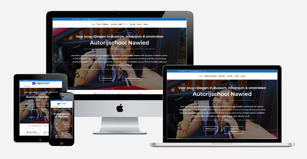 Content en website ontwikkeling 'Autorijschool Nawied 1