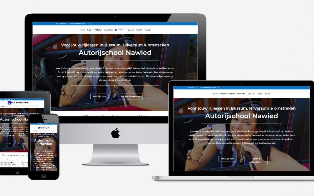 Content en website ontwikkeling 'Autorijschool Nawied