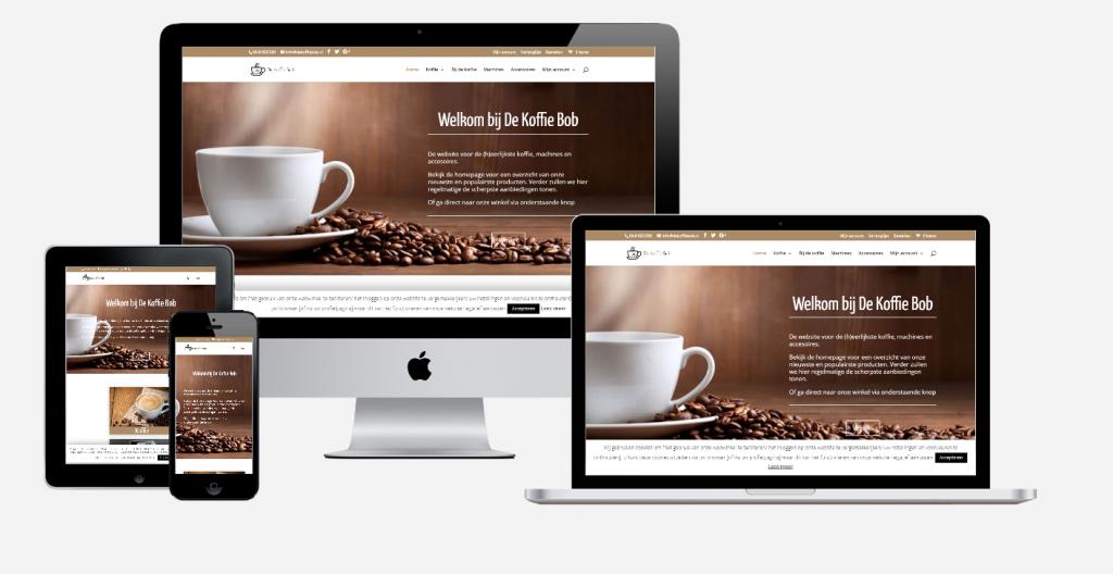 Content en website ontwikkeling 'De Koffie Bob' 1