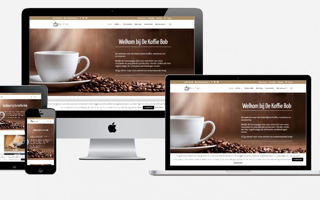 Content en website ontwikkeling 'De Koffie Bob'