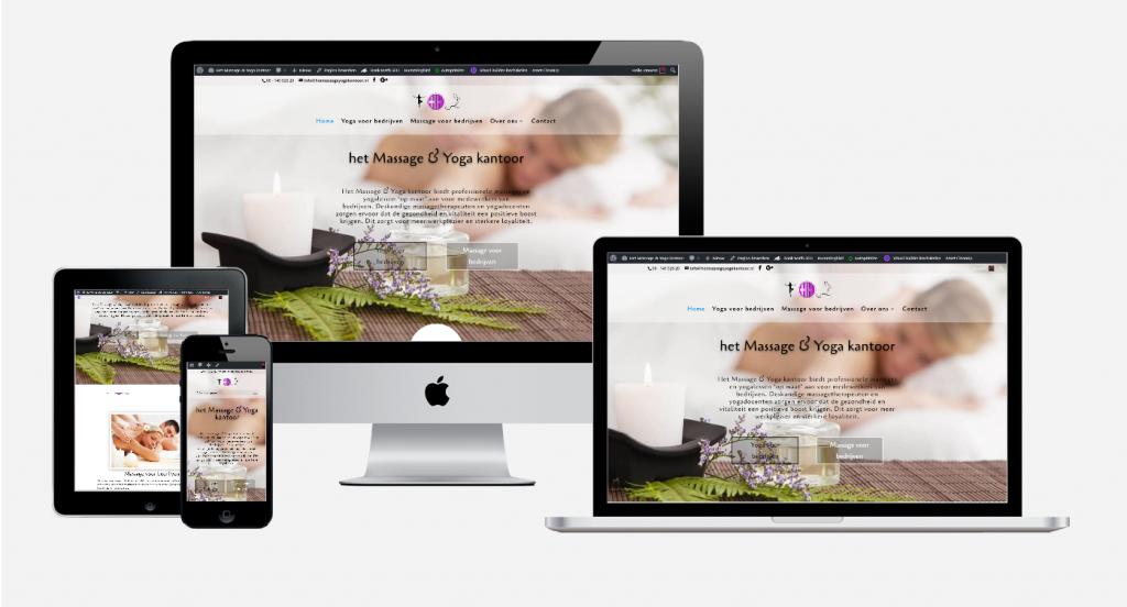 Content en website ontwikkeling 'Het Massage & Yoga kantoor' 1