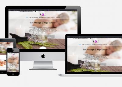 Content en website ontwikkeling 'Het Massage & Yoga kantoor'