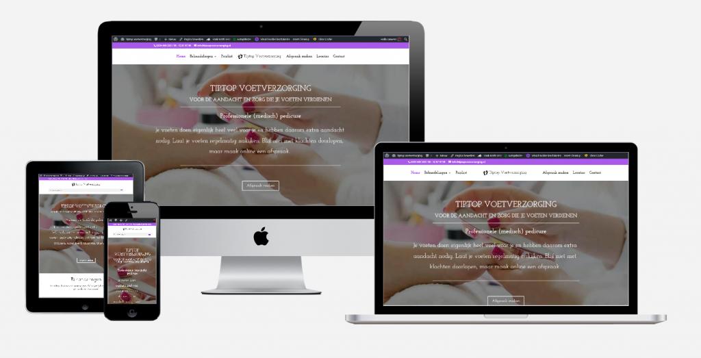Content en website ontwikkeling 'Tiptop Voetverzorging' 1